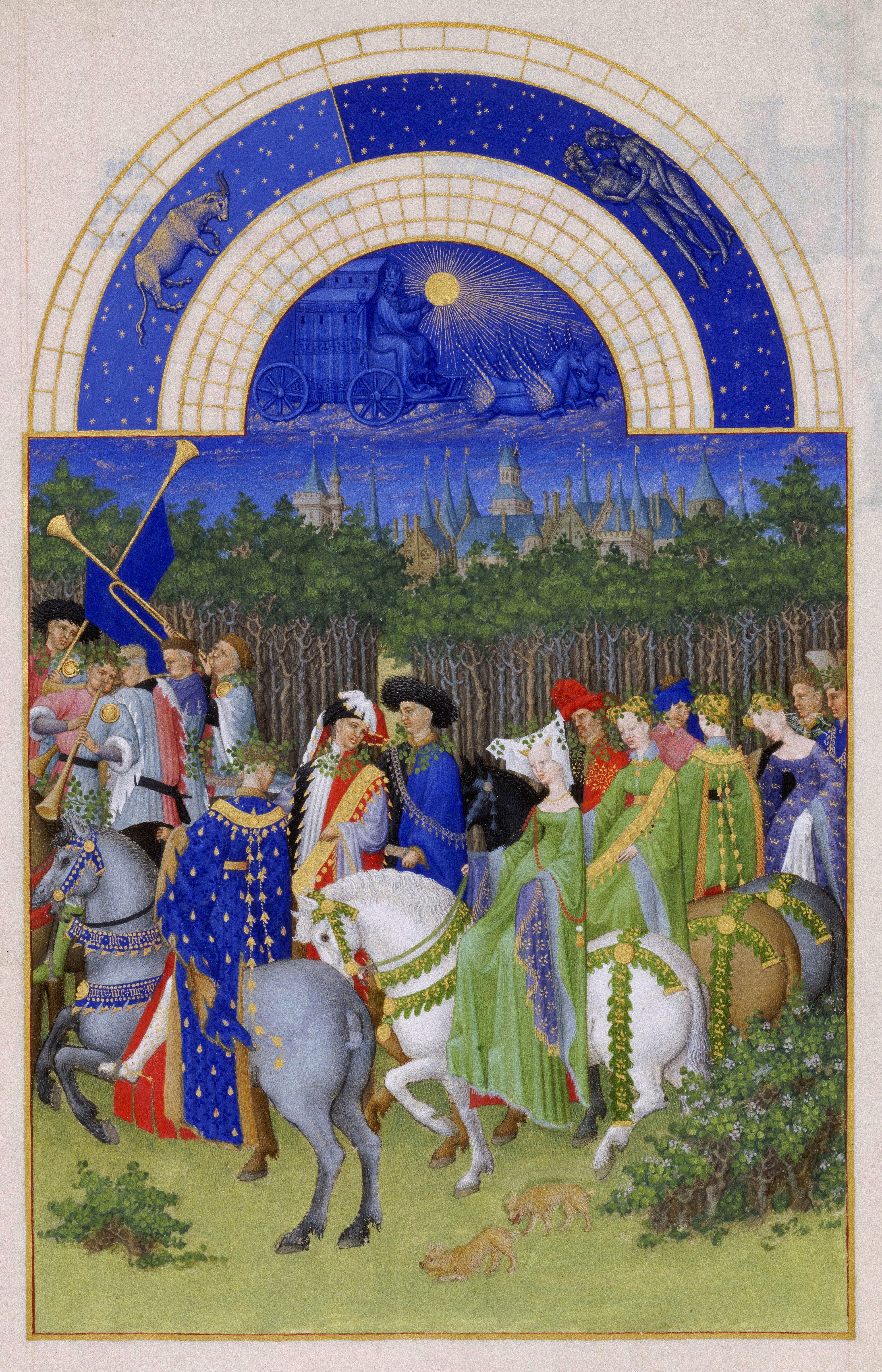 5 - May - Très Riches Heures du duc de Berry