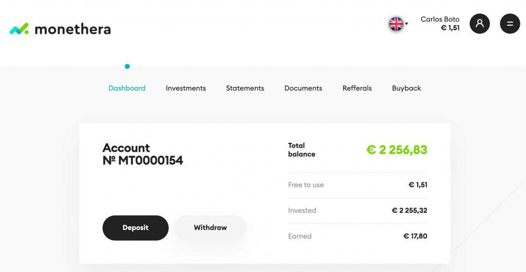 Monethera Account @ Savings4Freedom