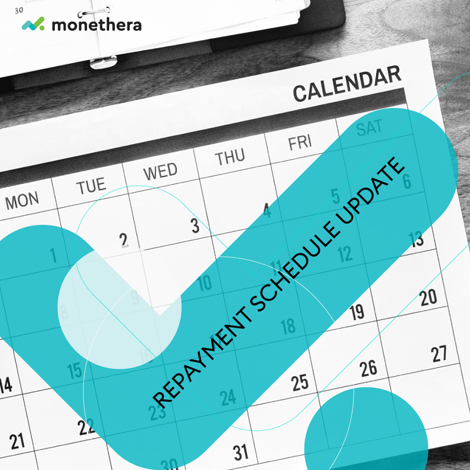Monethera Repayment Schedule @ Savings4Freedom
