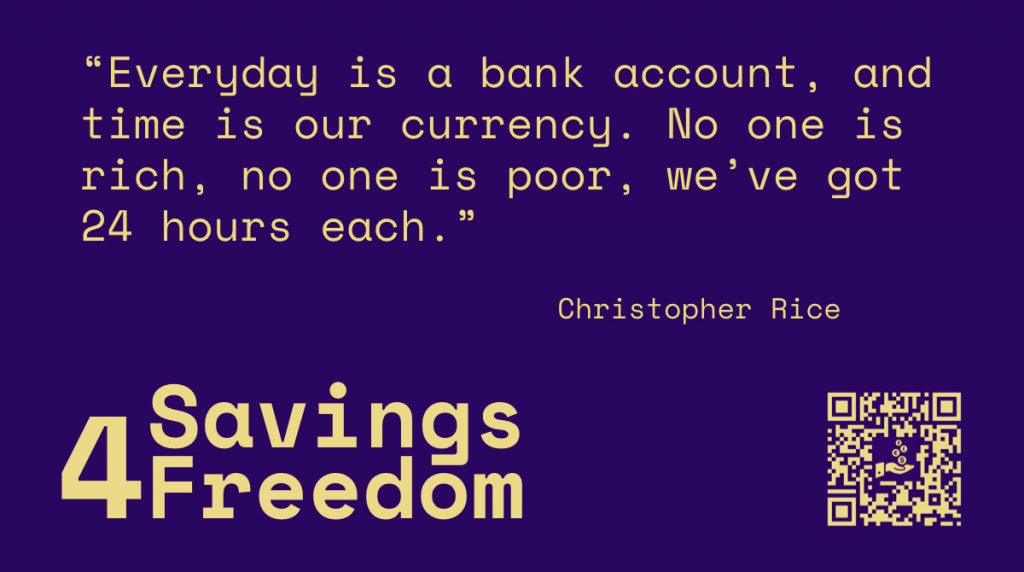 Savings4Freedom Quote Christopher Rice