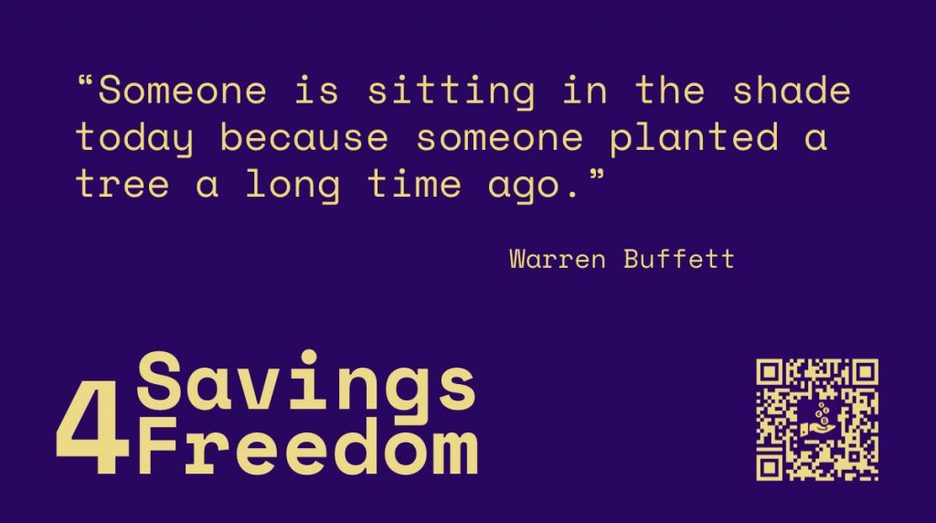 Savings4Freedom Quote Warren Buffett