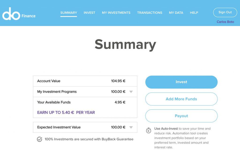 DoFinance Account @ Savings4Freedom